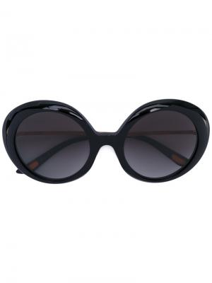 Солнцезащитные очки в оправе кошачий глаз Christian Roth. Цвет: черный