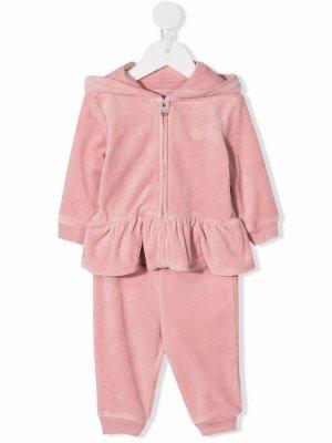 Спортивный костюм с оборками Ralph Lauren Kids. Цвет: розовый