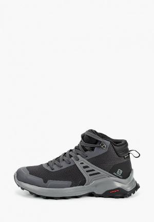 Ботинки трекинговые Salomon X RAISE MID GTX W. Цвет: серый
