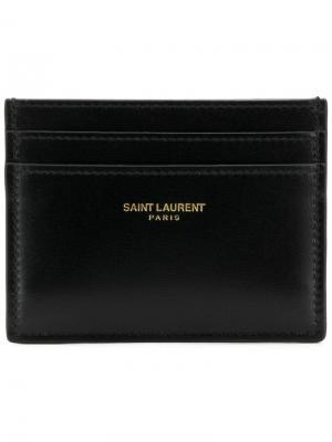 Визитница Paris Saint Laurent. Цвет: черный