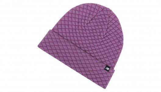 Шапки Heat Loft knit Beanie New Balance. Цвет: фиолетовый