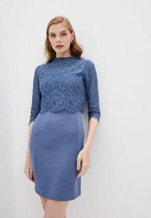 Платье и блуза Twinset Milano. Цвет: синий