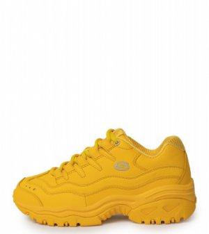 Кроссовки женские Energy, размер 36 Skechers. Цвет: желтый