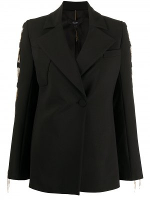 Пальто с цепочкой Ellery. Цвет: черный