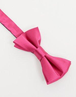 Ярко-розовый атласный галстук-бабочка -Розовый цвет Twisted Tailor