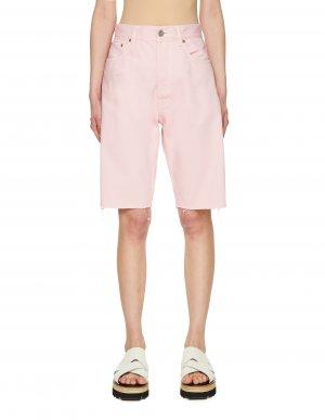 Джинсовые шорты розового цвета Vetements