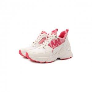 Комбинированные кроссовки Mickey MICHAEL Kors. Цвет: розовый