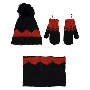 Комплект шапочка варежки La Redoute. Цвет: каштановый