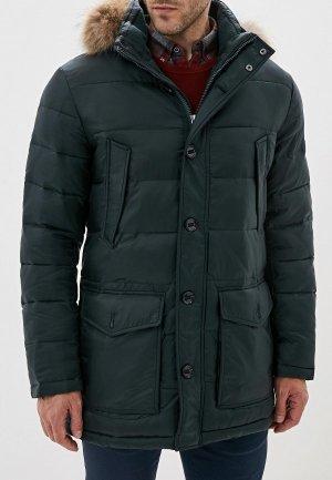 Куртка утепленная Al Franco. Цвет: зеленый