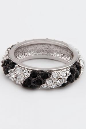 Кольцо Slava Zaitsev. Цвет: серебро, черный