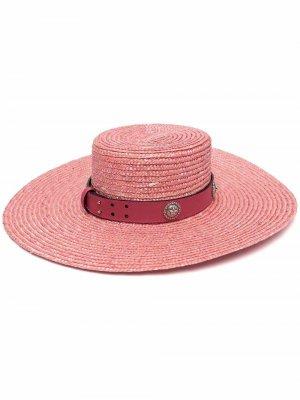 Шляпа с заклепками Kate Cate. Цвет: розовый
