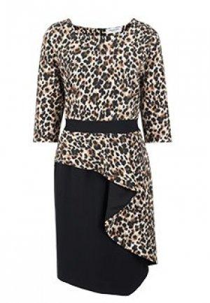 Платье ANNA RACHELE. Цвет: леопардовый