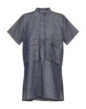 Джинсовая рубашка HACHE. Цвет: синий