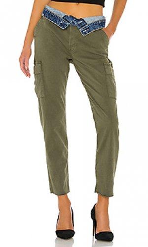 Брюки-карго Hudson Jeans. Цвет: зеленый