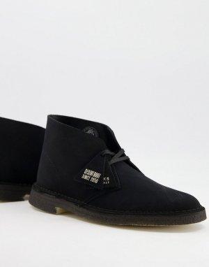 Черные замшевые дезерты -Черный цвет Clarks Originals