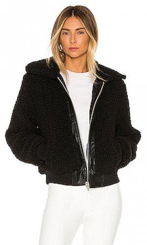 Пальто с ворсом poppy BLANKNYC. Цвет: черный