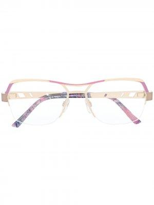 Солнцезащитные очки в оправе геометричной формы Cazal. Цвет: золотистый