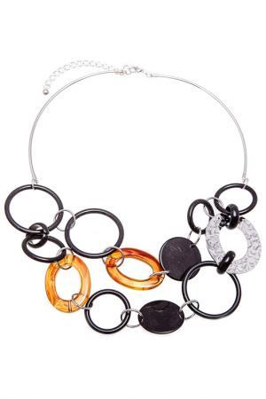 Колье Boho Chic. Цвет: черный, оранжевый, серебряный