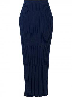 Трикотажная юбка в рубчик Jason Wu. Цвет: синий