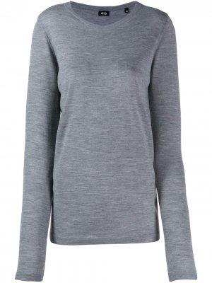 Пуловер с круглым вырезом Aspesi. Цвет: серый