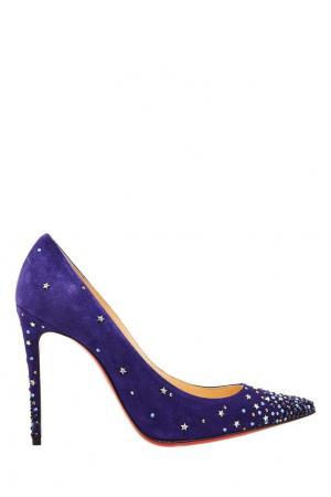 Кожаные туфли Gravitanita 100 с отделкой Christian Louboutin. Цвет: multicolor