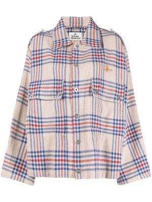 Клетчатая рубашка оверсайз Vivienne Westwood Anglomania. Цвет: нейтральные цвета