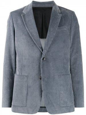 Пиджак на двух пуговицах AMI Paris. Цвет: синий