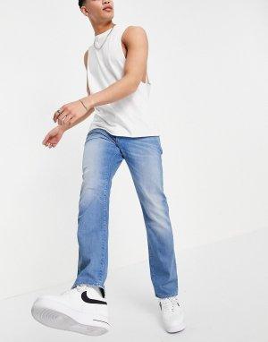 Синие выбеленные прямые джинсы 3301-Голубой G-Star