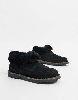 Теплые черные ботинки с подкладкой -Черный Birkenstock