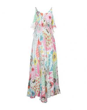 Длинное платье AGOGOA. Цвет: белый