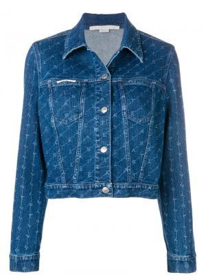 Джинсовая куртка с монограммами Stella McCartney. Цвет: синий