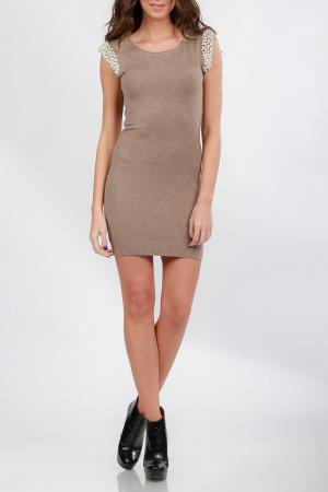 Платье Cocogio. Цвет: коричневый