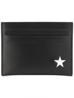 Визитница со звездой Givenchy. Цвет: чёрный