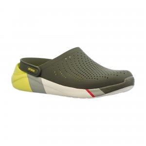 Сабо LiteRide Colorblock Clog Crocs. Цвет: зеленый