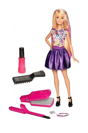 Кукла Барби Стильная прическа Barbie. Цвет: мультицвет, фиолетовый