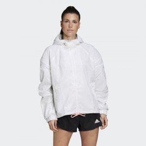 Ветровка W.N.D. Iterations adidas. Цвет: белый