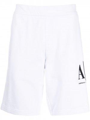 Спортивные шорты с логотипом Armani Exchange. Цвет: белый
