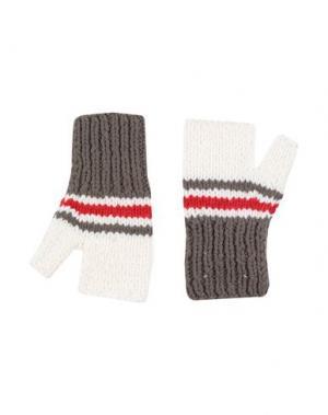 Перчатки MAISON MARGIELA. Цвет: свинцово-серый