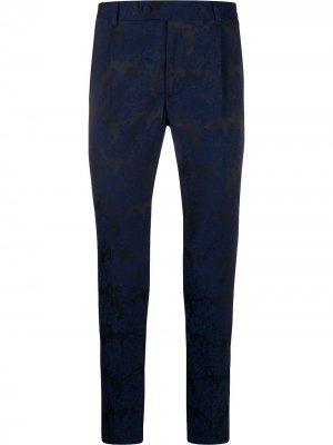 Жаккардовые брюки строгого кроя Daniele Alessandrini. Цвет: черный
