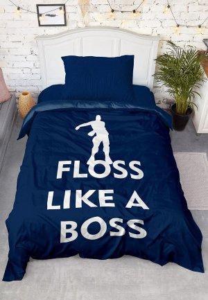 Постельное белье детское 4 you Dreams Floss like a Boss. Цвет: синий