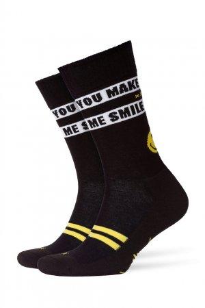 Трикотажные носки с надписями Burlington. Цвет: черный