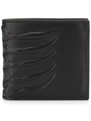 Бумажник с тиснением Alexander McQueen. Цвет: черный