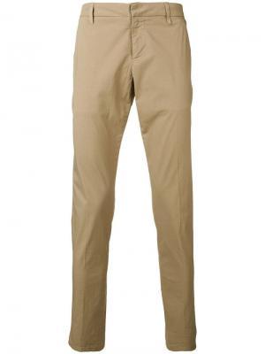 Классические брюки чинос Dondup. Цвет: бежевый