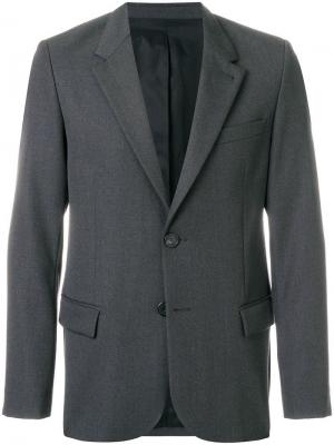 Пиджак на двух пуговицах AMI. Цвет: серый