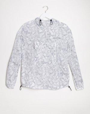 Прозрачный дождевик -Белый Bershka
