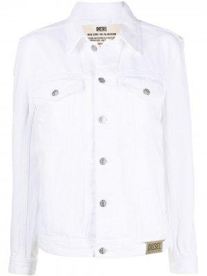 Джинсовая куртка на пуговицах Diesel. Цвет: белый