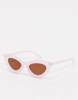 Фиолетовые солнцезащитные очки кошачий глаз в стиле ретро -Фиолетовый цвет AJ Morgan