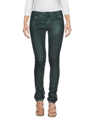 Джинсовые брюки 75 FAUBOURG. Цвет: темно-зеленый