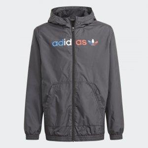 Ветровка Adicolor Originals adidas. Цвет: серый