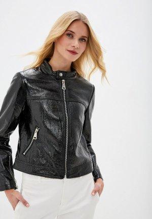 Куртка кожаная Forza Viva. Цвет: черный